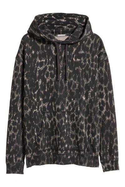 Sudadera de leopardo descolorida