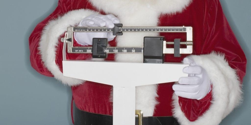 no perder la línea en Navidad