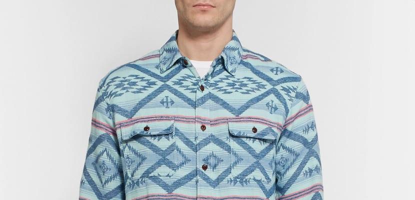 Camisa estampada estilo workwear