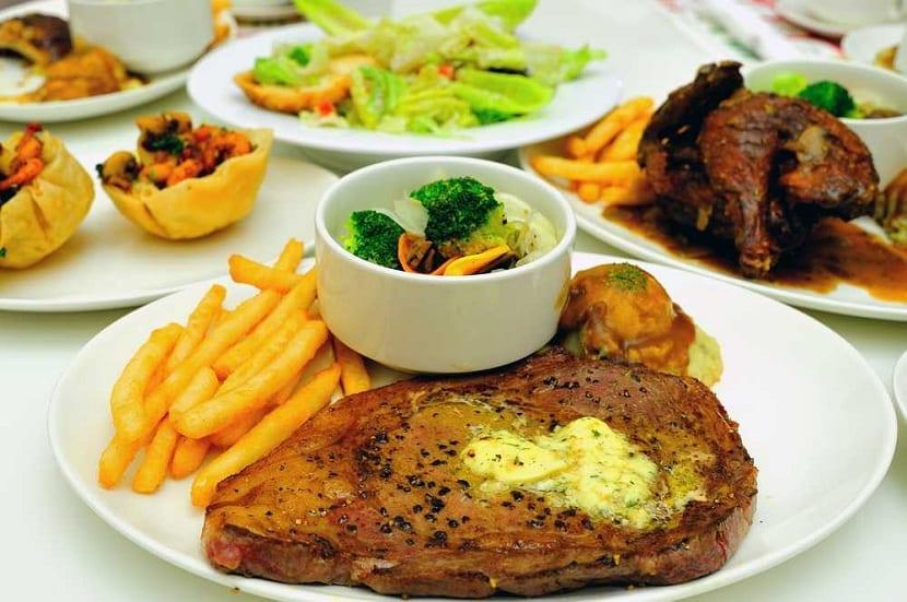 Alimentos con alto contenido en calorías