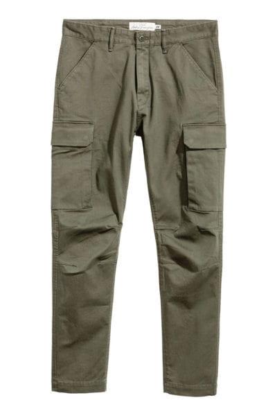 Pantalón verde cargo de H&M