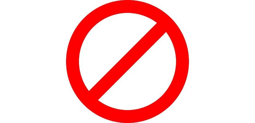 Símbolo de prohibido