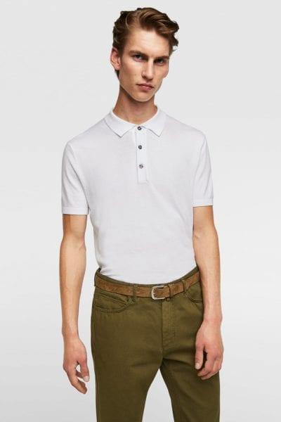Pantalón verde cinco bolsillos de Zara
