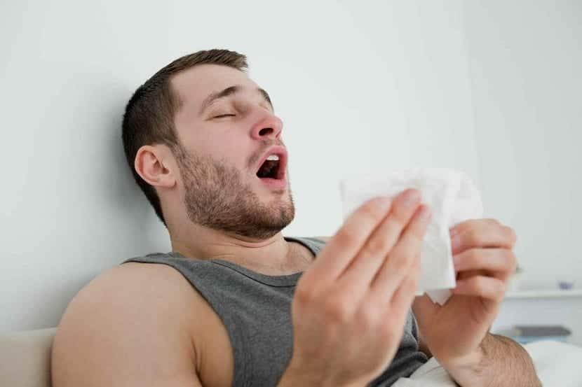 Picor por algún tipo de alergia
