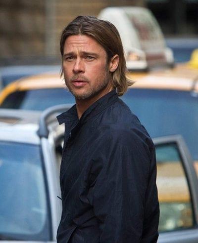 Brad Pitt con media melena