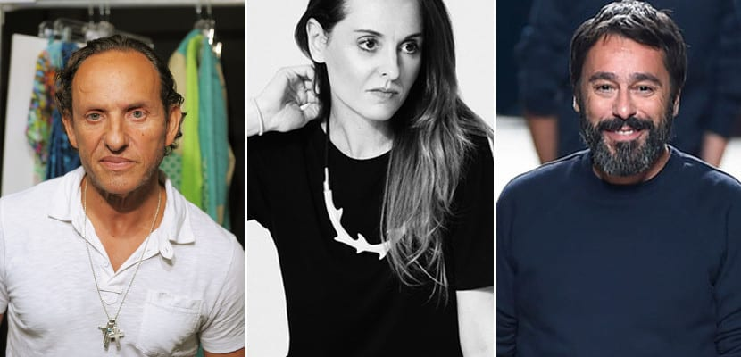 Los diseñadores Custo Dalmau, Ana Locking y Juanjo Oliva