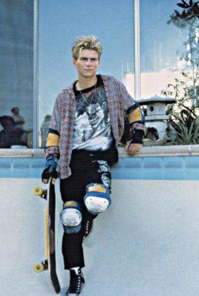 Christian Slater con camisa de cuadros
