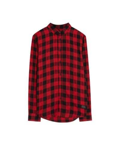 Camisa de cuadros de Pull & Bear
