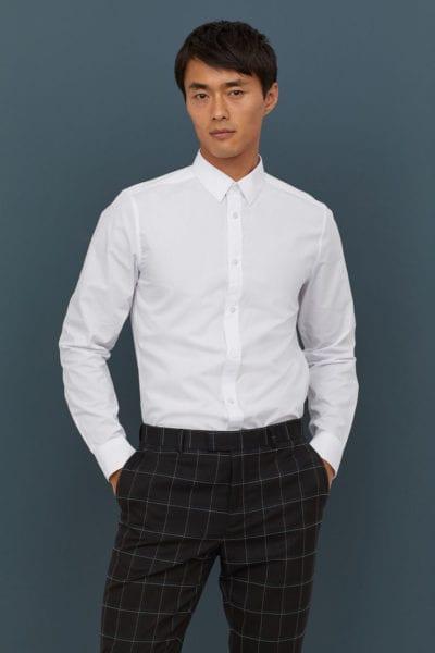 Camisa slim fit de H&M