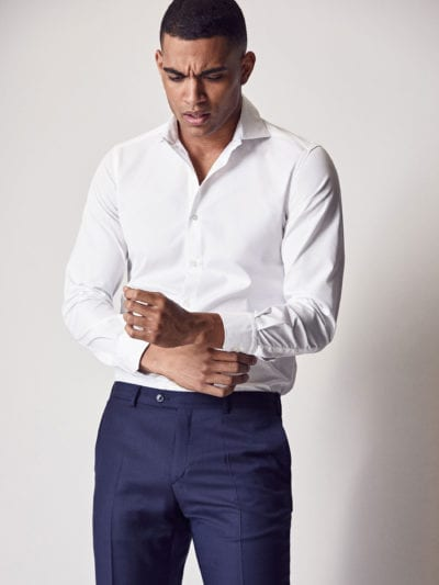 Camisa tailored fit blanca