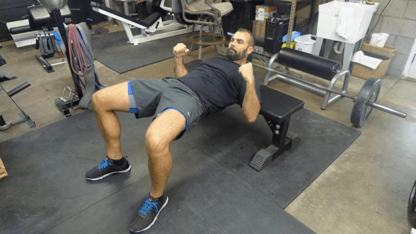 Posición en el hip thrust