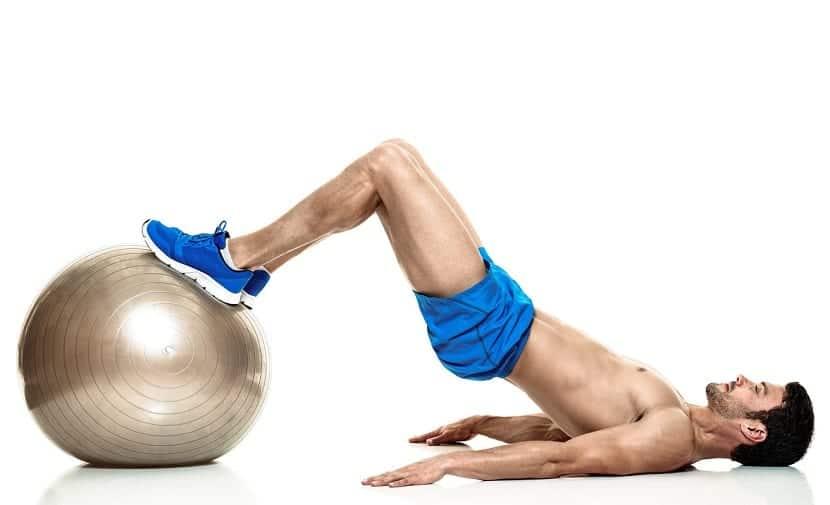Elevación de cadera fitball