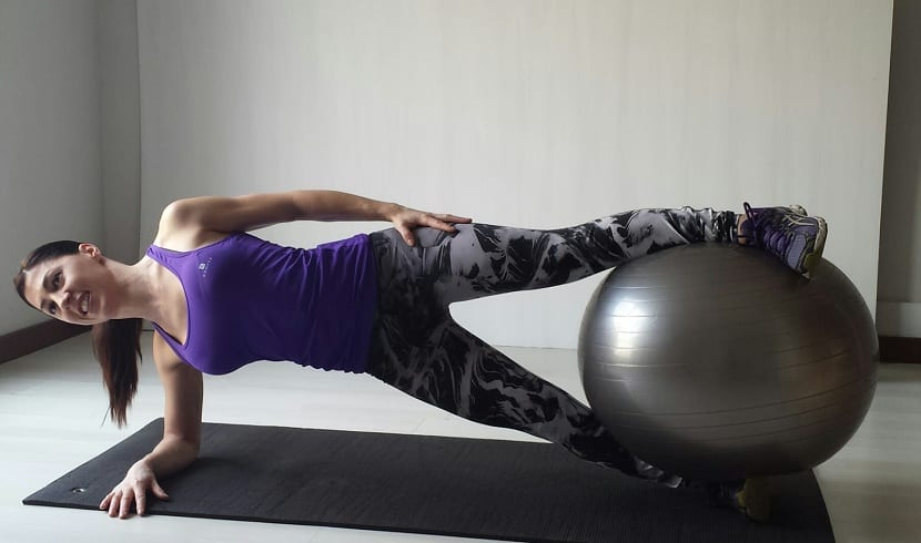 Plancha lateral fitball