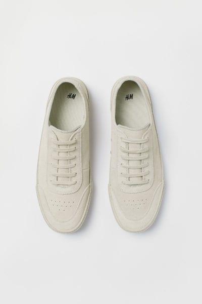 Zapatillas beige claro