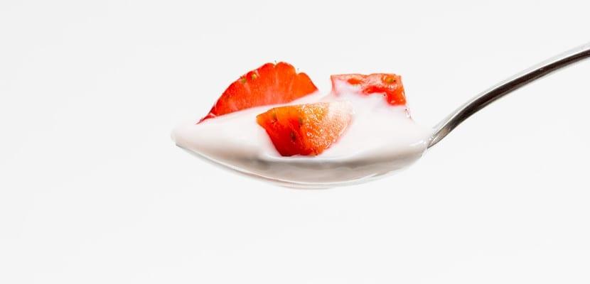 Cucharada de yogur