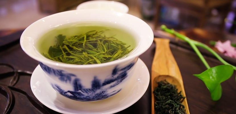 Taza de té verde