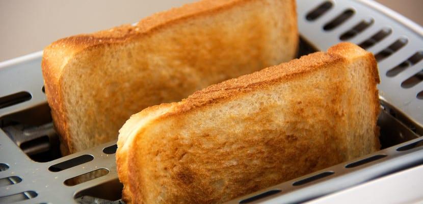 Tostadas en la tostadora