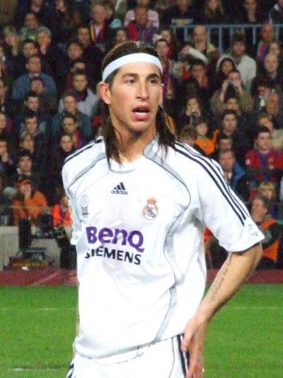 Sergio Ramos con pelo largo