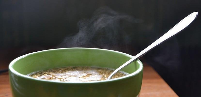 Sopa caliente