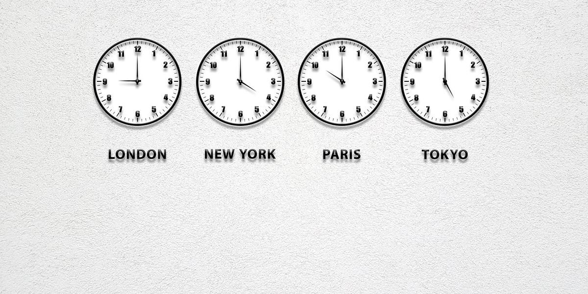 Relojes de las zonas horarias