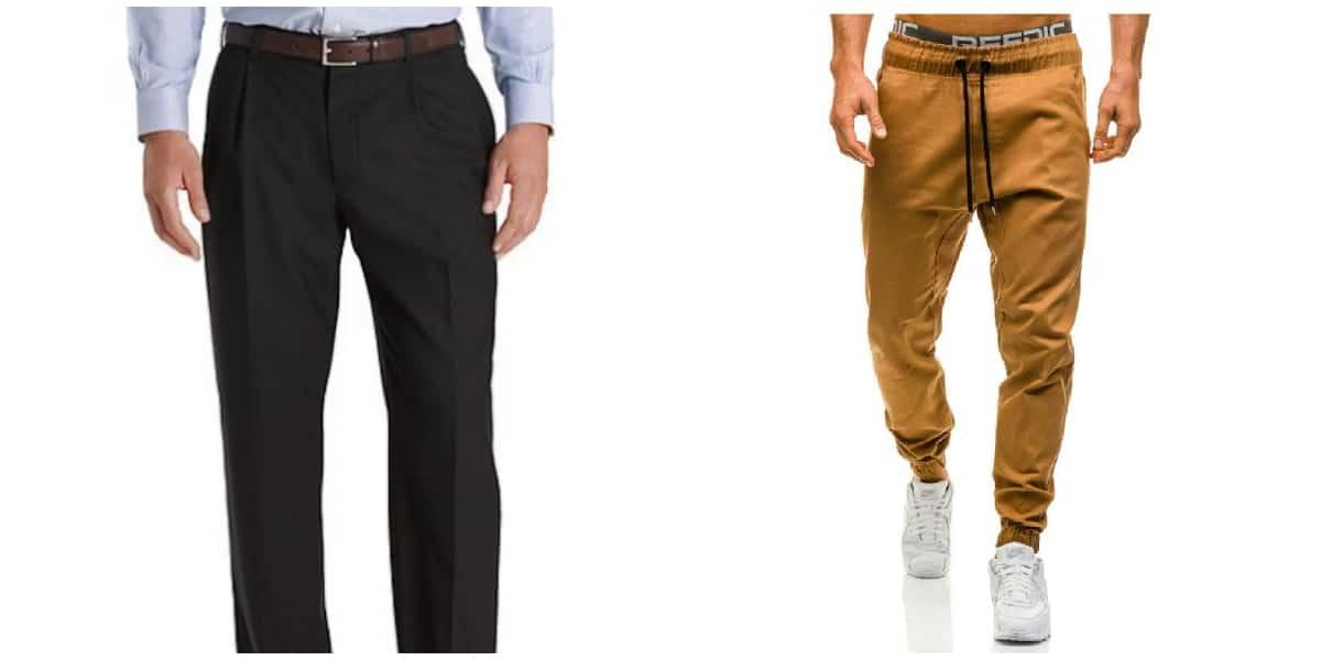pantalon pinzas y joggers