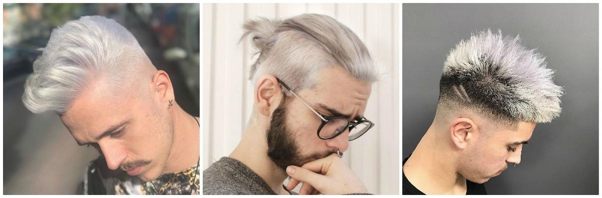 pelo gris claro