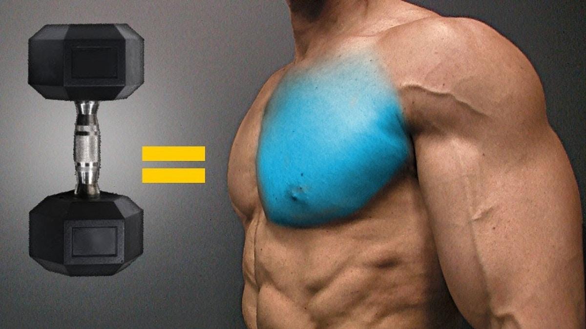 ejercicios de pecho con mancuernas