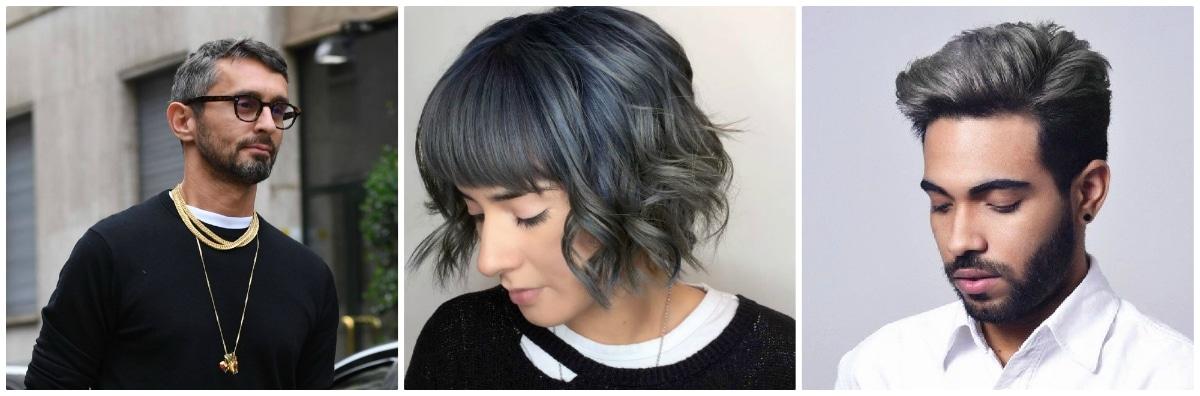 pelo gris oscuro
