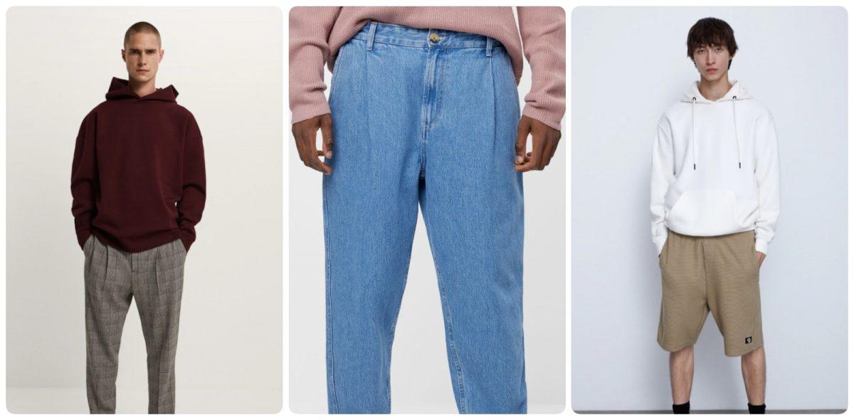 Pantalones anchos para hombre