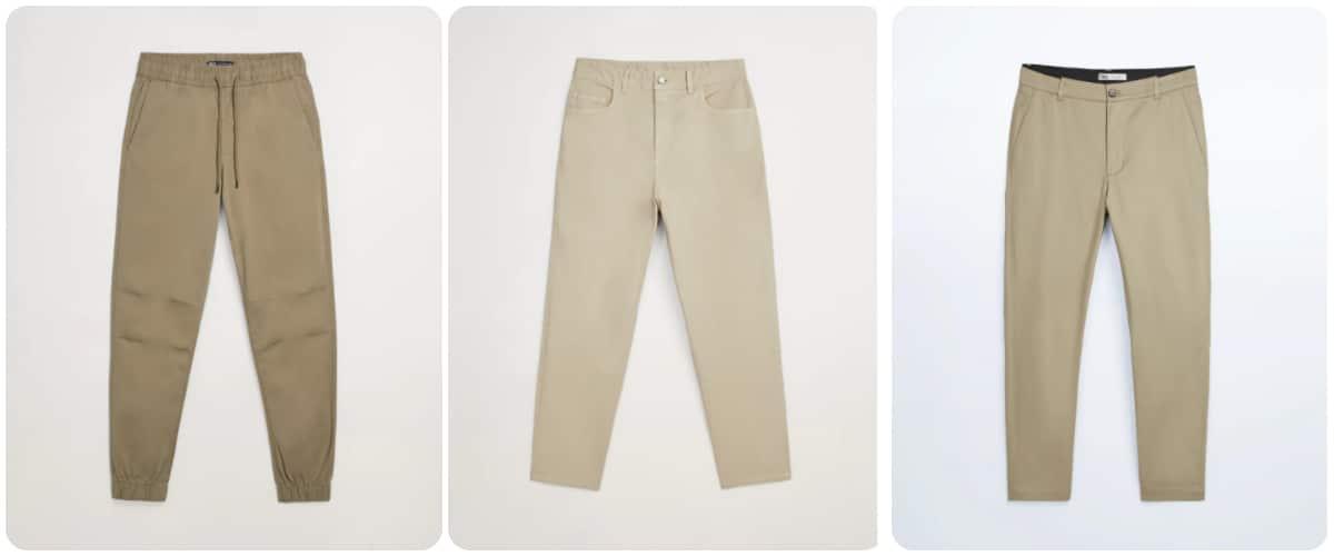 Cómo combinar pantalón beige