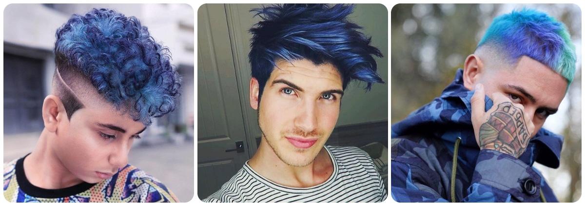 Pelo azul degradado