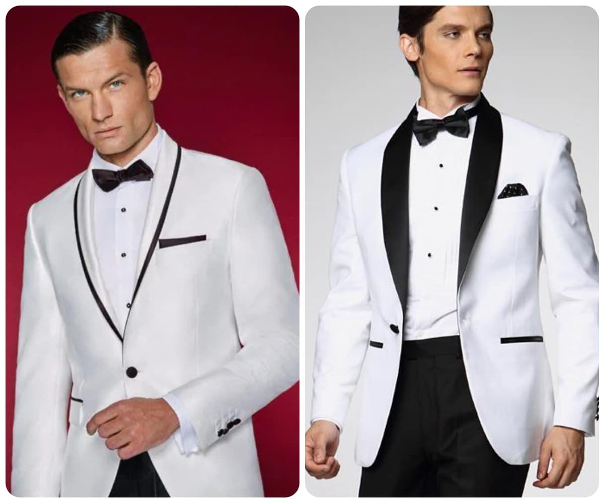 traje novio blanco