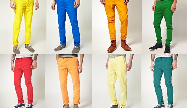 El hombre deben cambiar de color sus pantalones en primavera-verano?